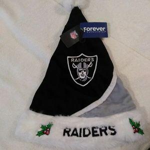 Accessories - Oakland Raiders Santa Hat *NWT*